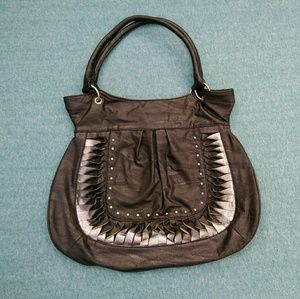 Chateau Black and Silver Hobo Retro Bag